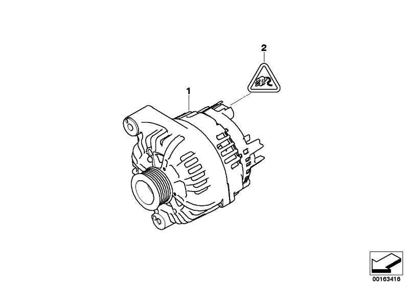 Austausch Generator 180A            1er 3er  (12317558220)