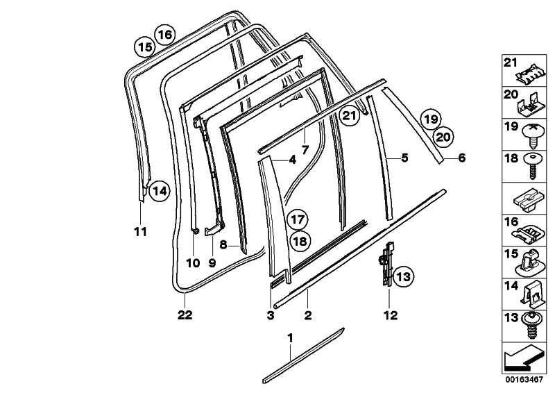 Schachtabdeckung aussen Tür hinten re. ALU-SATINIERT   X5  (51358036784)