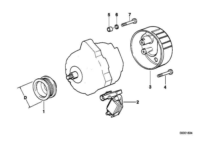 Austausch Kompakt Generator 150A            3er X3 X5  (12317797661)