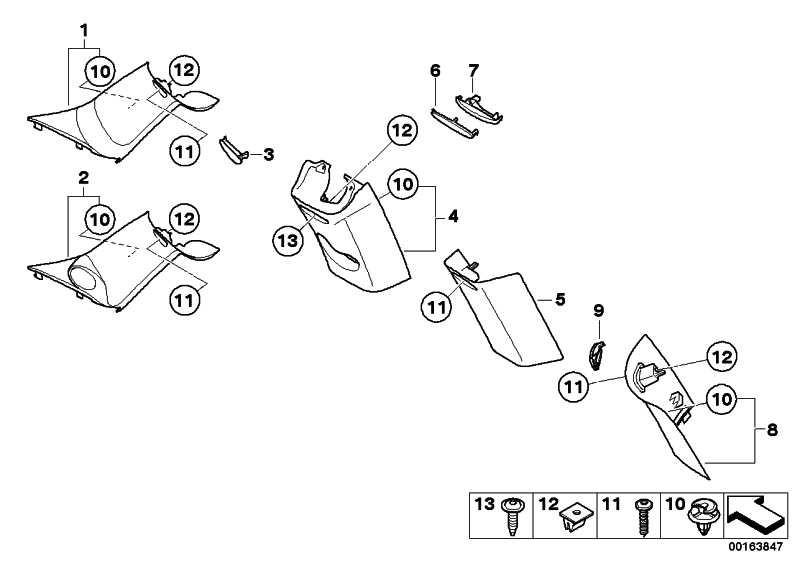 "Abdeckkappe ""Airbag"" B-Säule rechts CARBON BLACK    MINI  (51432753016)"