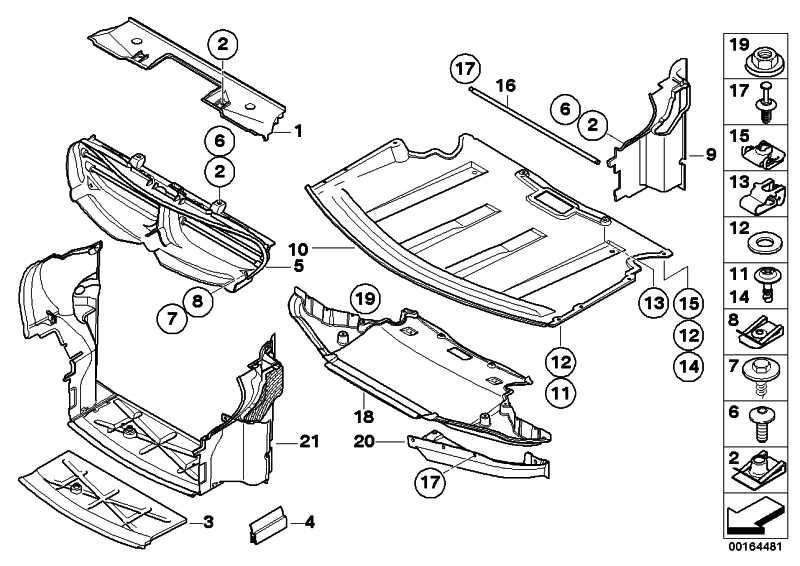 Abschirmung Motorraum vorne  6er  (51758042976)