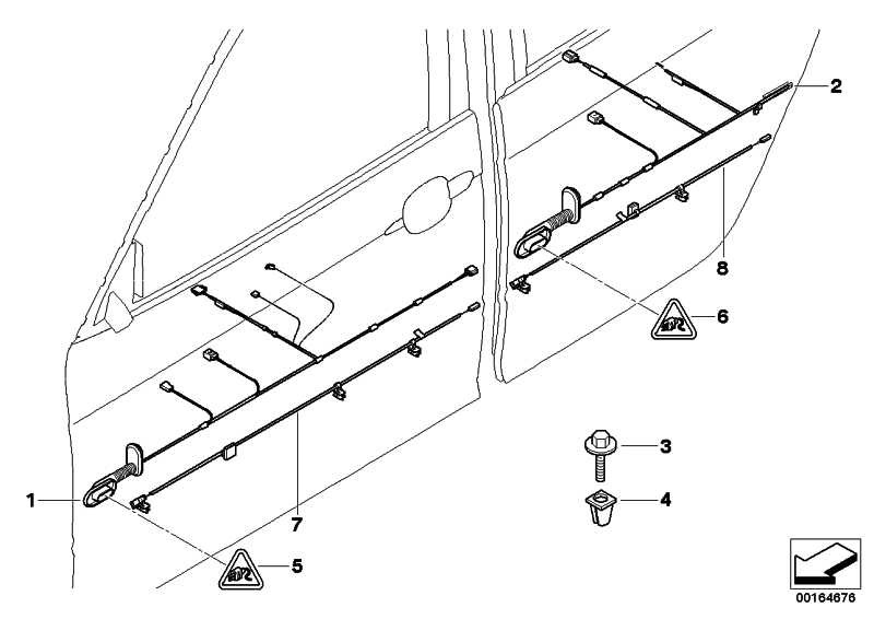 Kabelsatz Fahrerseite  X3  (61123427743)