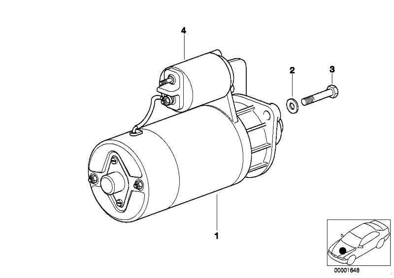 Austausch Anlasser 2,2 KW          3er 5er 7er X5  (12412344240)