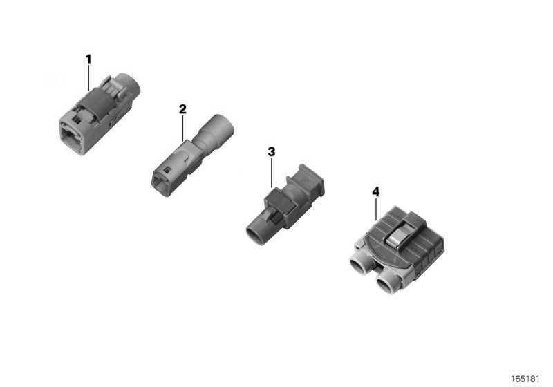 Buchsengehäuse 2 POL. / FAKRA 1er 2er 3er 4er 5er 6er 7er X1 X3 X4 X5 X6 Z4 MINI  (61136939875)