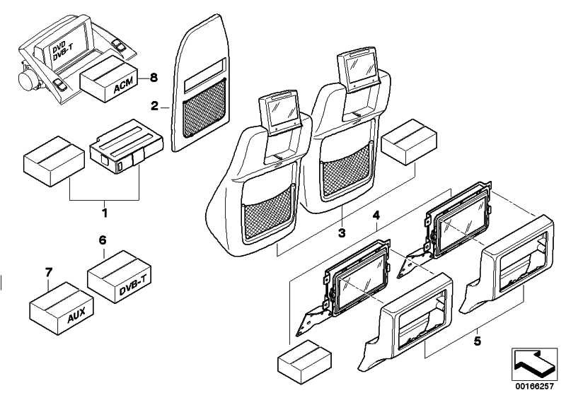 Nachrüstsatz Monitore DVD Advanced  5er 7er X3  (65120406359)