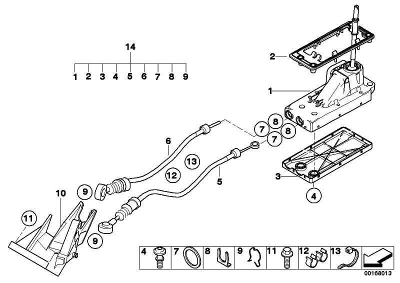 Schaltseilzug Schaltwelle  MINI  (25117547366)
