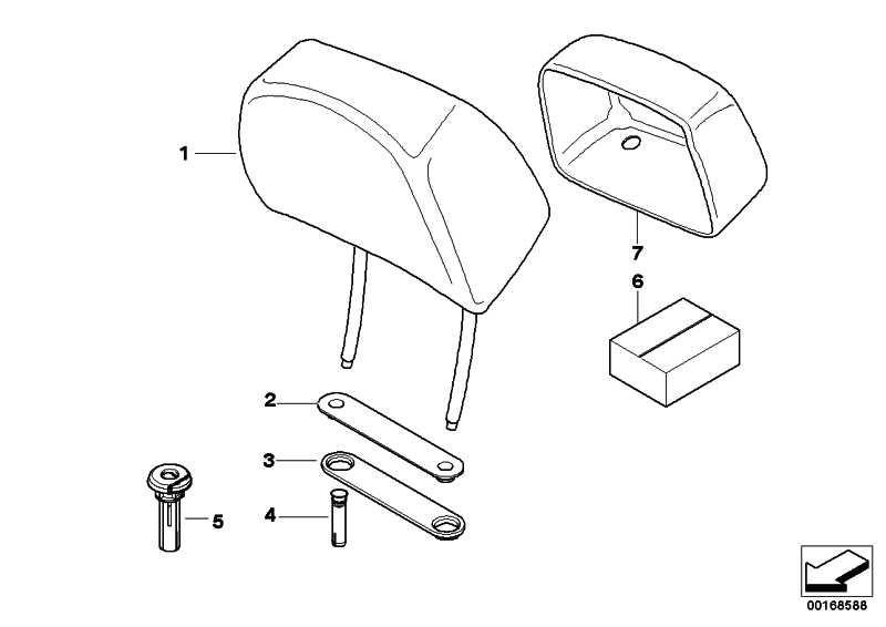 Reparatursatz Crash-aktive Kopfstütze GEN 1 3er 5er 6er 7er X3 X5 X6  (52109169585)