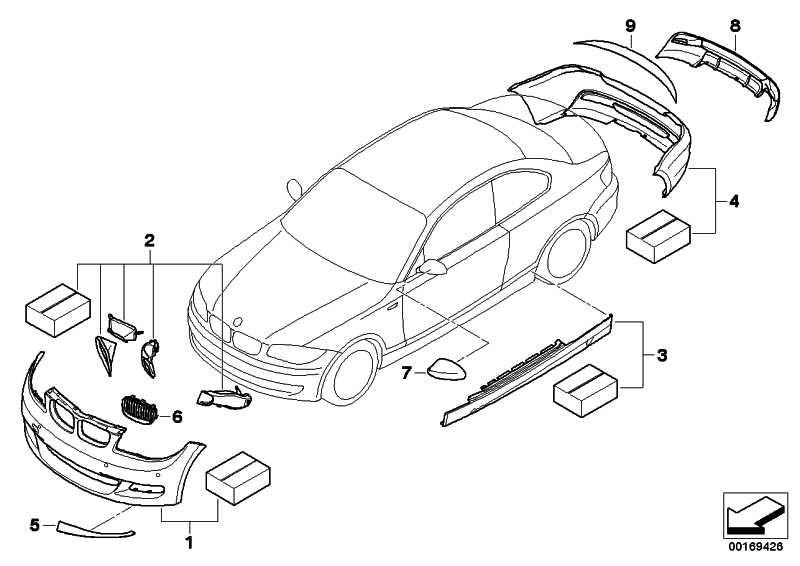 BMW Performance Kühlluft-Paket 135i  1er  (51740442875)