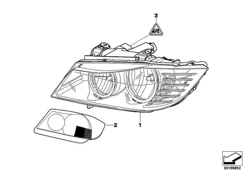 Scheinwerfer Bi-Xenonlicht rechts ZKW             3er  (63117240248)