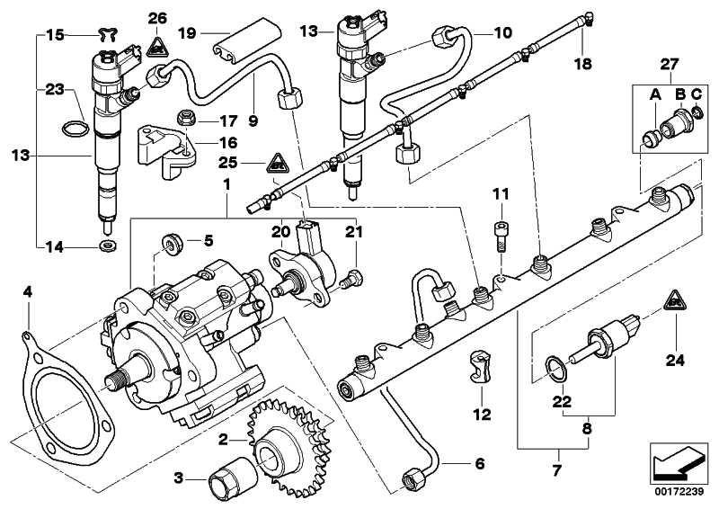 Austausch Hochdruckpumpe  3er 5er 7er X5  (13517787632)