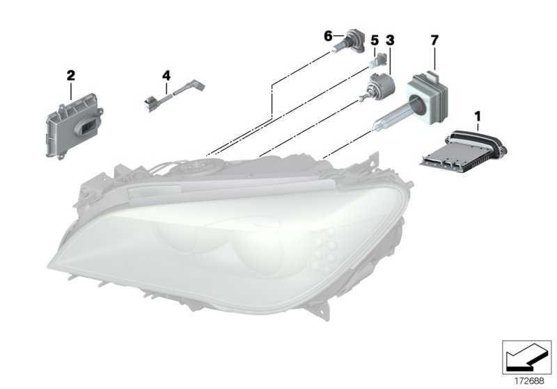 Steuergerät Xenon-Licht  1er 3er 5er 7er X1 Z4  (63117318327)
