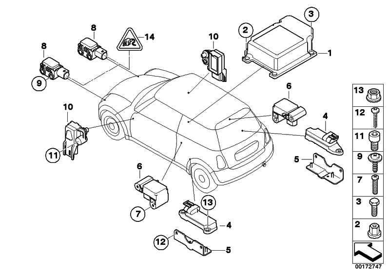 Steuergerät Airbag/Seitenairbag uncod.  MINI  (65776962531)