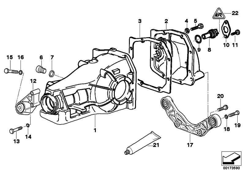 Halter Hinterachsgetriebe  3er  (33172228147)