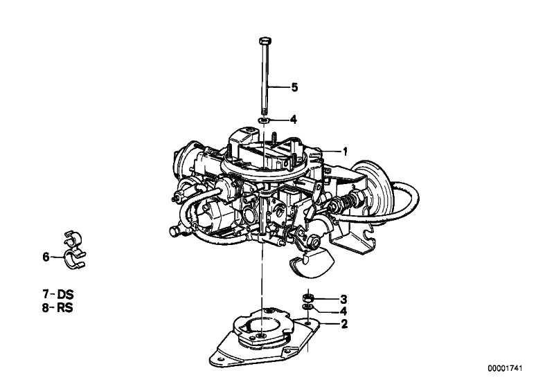Reparatursatz Vergaser 1B2             3er  (13111278344)