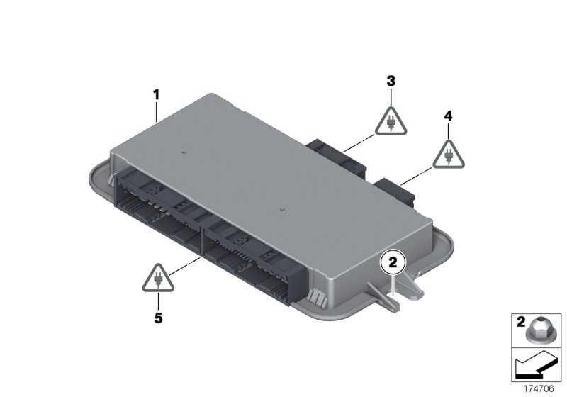 Fussraummodul  5er 6er 7er X3 X4  (61359383692)