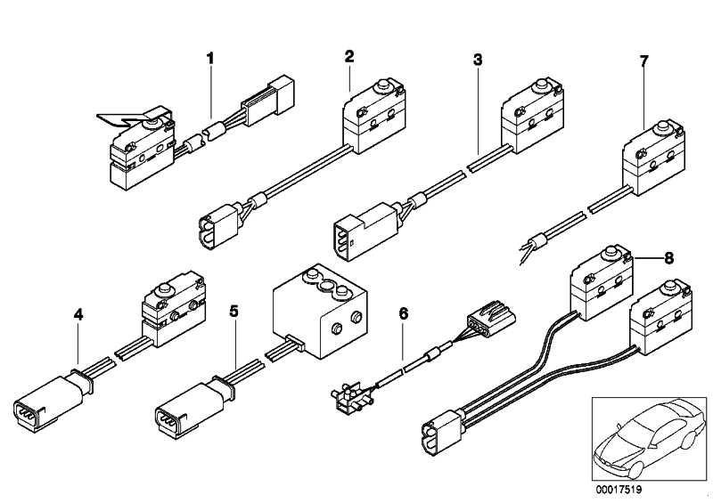 Microschalter Heckklappenverschluss  5er  (61318363699)
