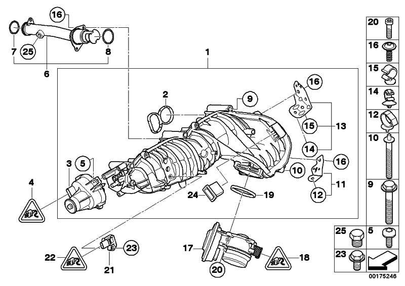 Sensor Ladedruck  1er 3er 5er 6er 7er X1 X3 X5 X6 MINI  (13627804742)