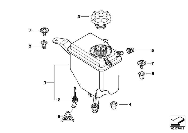 Kühlwasserausgleichbehälter  5er 6er  (17137542986)
