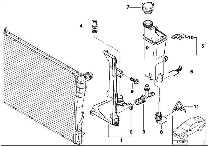 Kühlmittelstutzen  3er  (17111707817)