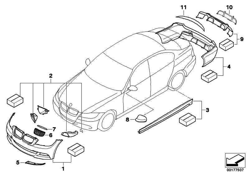 BMW Performance Aero-Paket Front gru.  3er  (51192152214)
