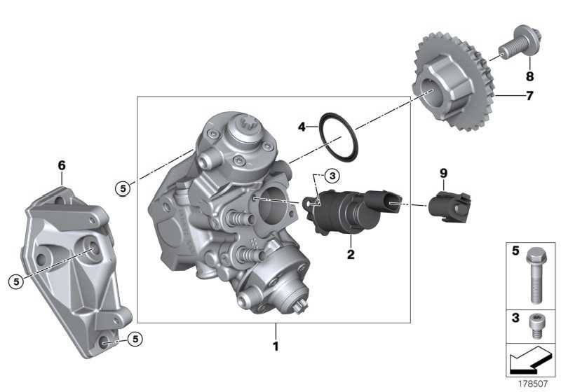 Austausch Hochdruckpumpe CP4.2 3er 5er 7er X5 X6  (13518577654)