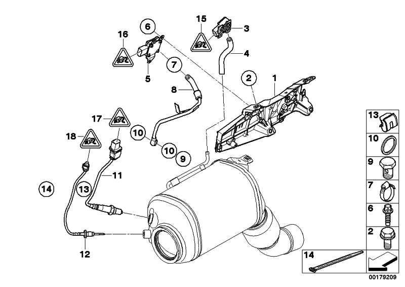 Sensor Abgasdruck  1er 3er 5er 7er X1 X3 X5 X6  (13627808013)