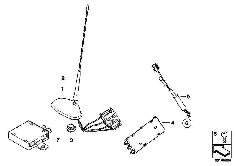 Antennenfuss Dachantenne  MINI  (65206934303)