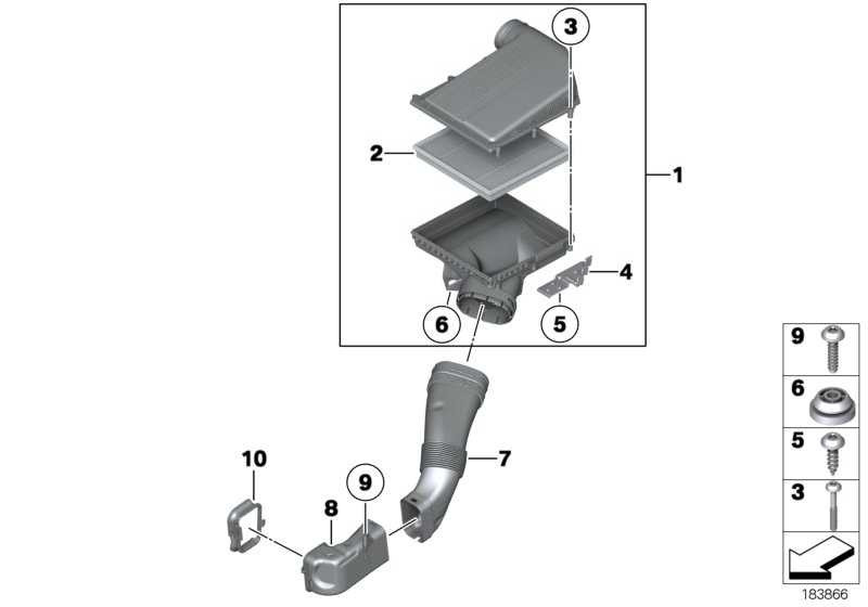 Ansauggeräuschdämpfer  5er X3 6er 7er X4  (13717583725)