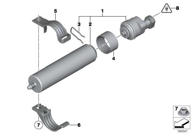 Kraftstofffilter mit Heizung  1er 5er 6er 7er X3 X5 X6  (13328572515)