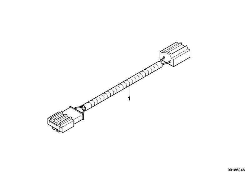 Nachrüstkabelsatz Faceliftleuchten  3er  (61122181307)