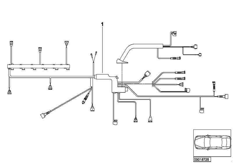 Kabelbaum Motor Motormodul  3er  (12511439991)