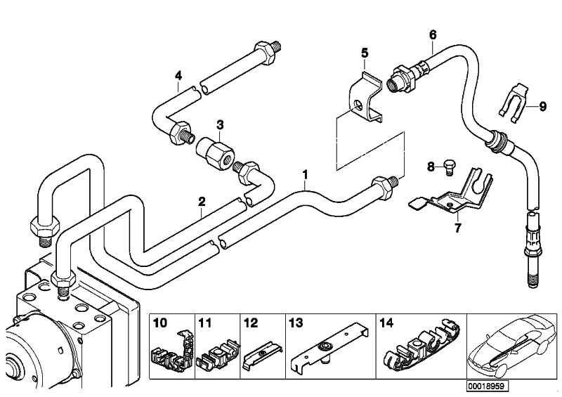 Halter Bremsleitung  3er X3 Z8  (34301164005)
