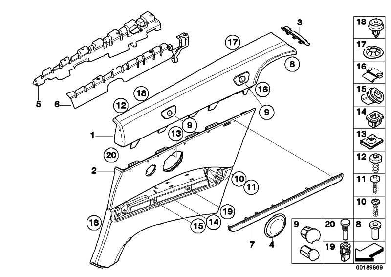 Verkleidung Brüstung links CREAMBEIGE      3er  (51439150929)