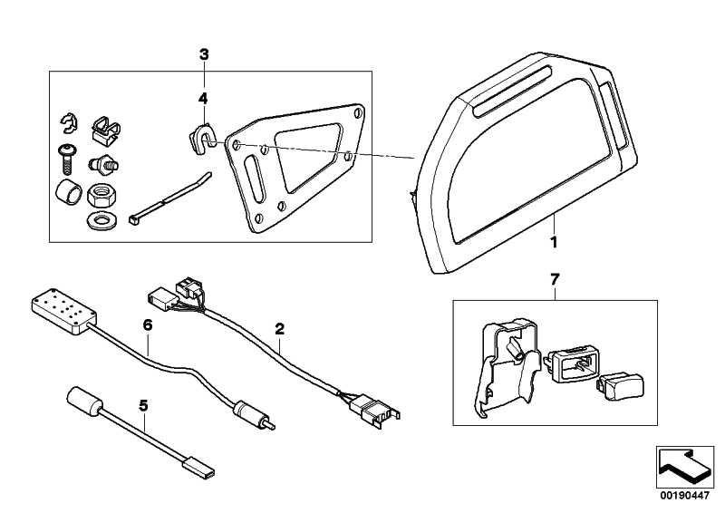 Anbausatz Instrumentenkombination   (71607715839)