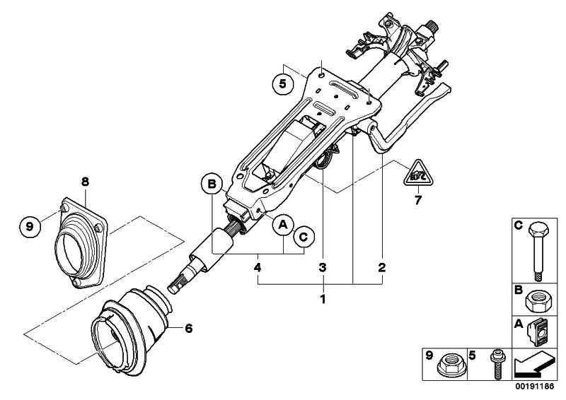 Lenksäulenverstellung mechanisch  3er  (32306786891)