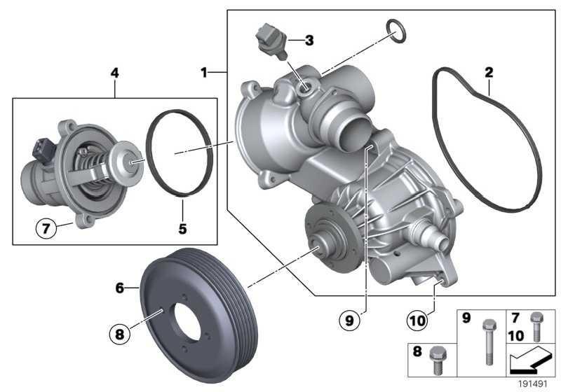 Austausch Kühlmittelpumpe mechanisch  7er  (11517586780)