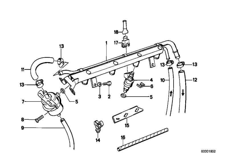Halter Kraftstoffleitung  3er BMW  (13311310742)