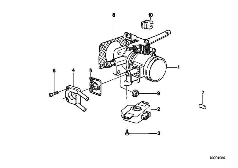 Drosselklappenschalter  3er 5er Z1  (13631710559)