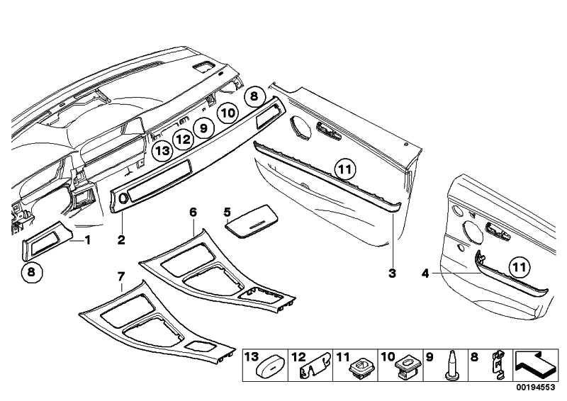 Dekorleiste Instrumententafel links DIAMANTSCHWARZ  3er  (51456985890)