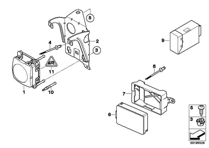 Halter Sensor LRR  5er  (66316774507)