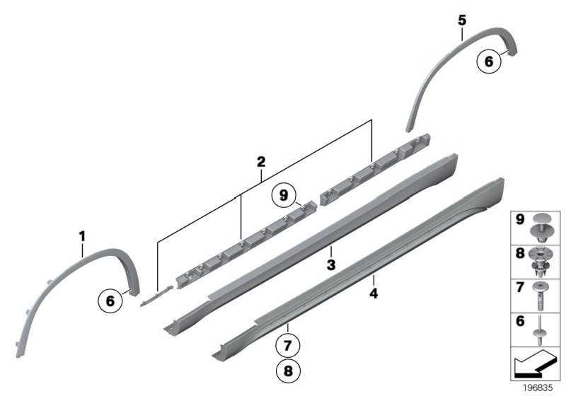 Abdeckung Schweller rechts X-LINE          X1  (51772993564)