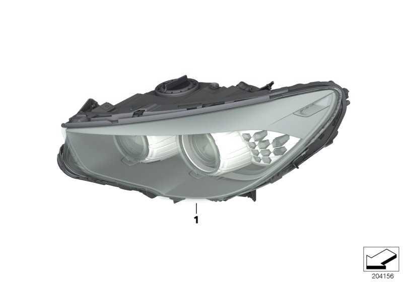 Scheinwerfer Bi-Xenonlicht rechts  5er  (63127262720)