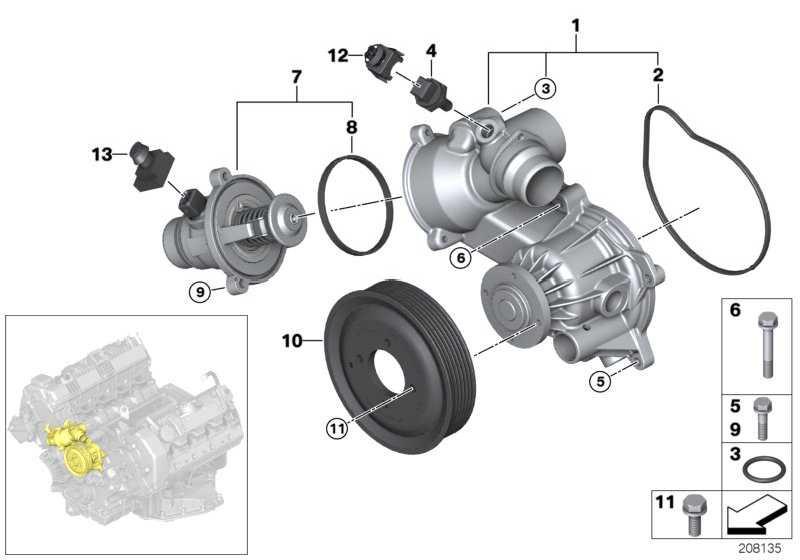 Kühlmittelpumpe mechanisch  5er 6er 7er X5  (11517524551)