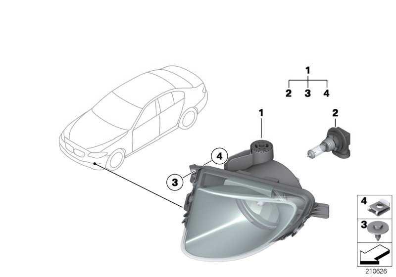 Nebelscheinwerfer Kunststoff rechts  5er  (63177216886)