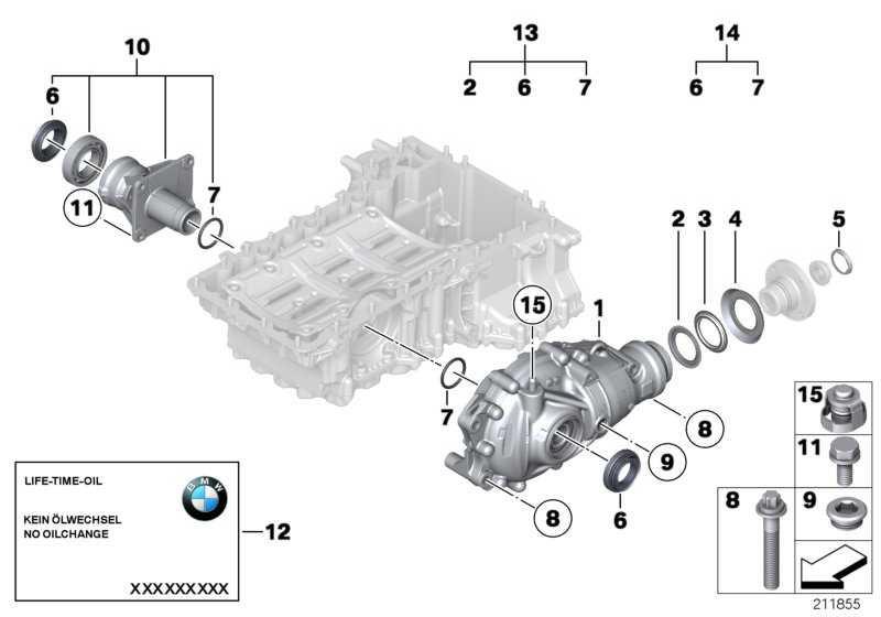 Austausch Vorderachsgetriebe I=3,64          3er 5er X1  (31507572052)