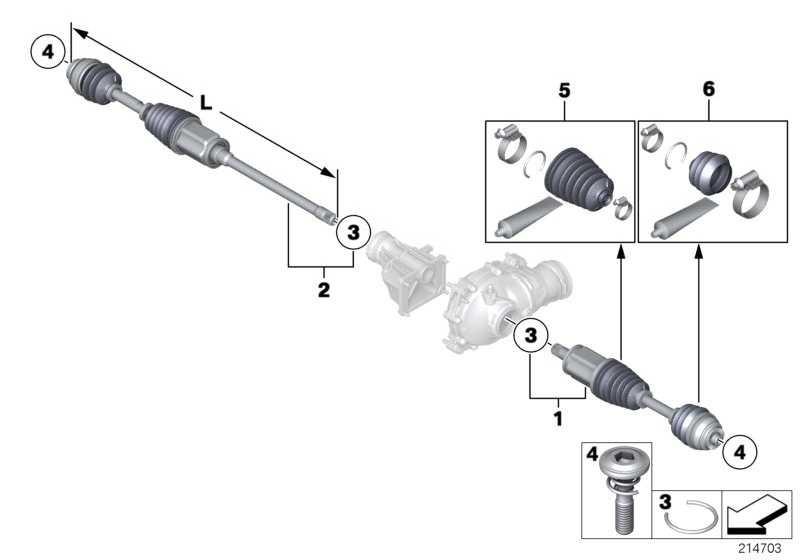 Austausch Abtriebswelle links L=607MM         5er 7er  (31607606027)