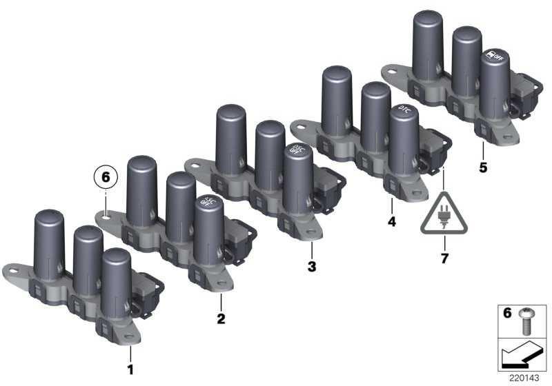 Schalterblock DTC MSA  MINI  (61313454173)