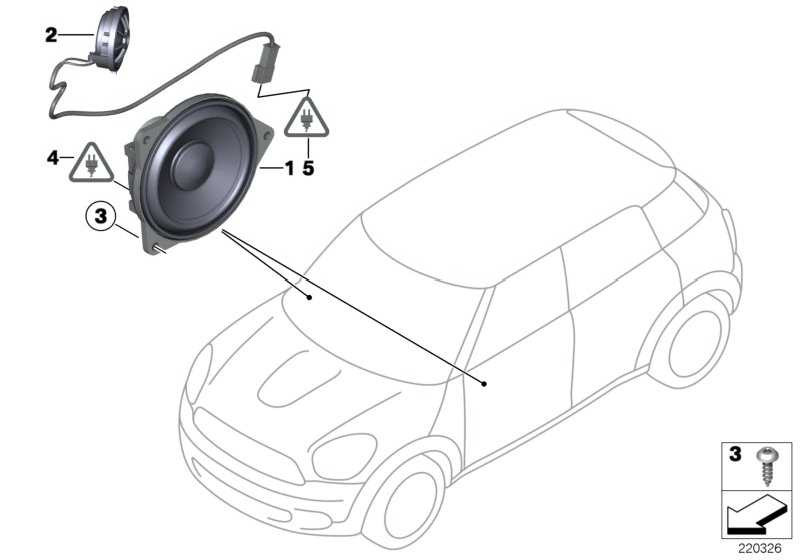 Mitteltonlautsprecher Stereo/HiFi  1er 2er MINI  (65139804157)