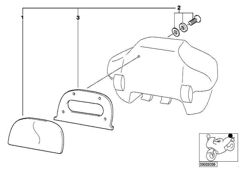 Satz Rückenpolster Top Case 33 L   (71602337201)