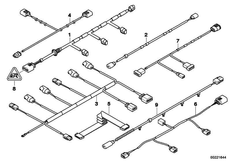Kabelsatz PDC vorne  X5  (61126970675)